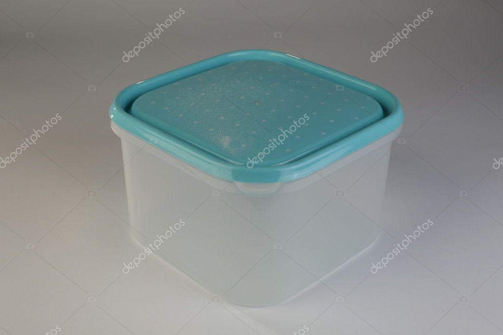 Scatola Di Plastica Con Coperchio Colorato Foto Stock Arbllrom