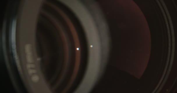 Makro snímek video zoom objektivu zaostřování