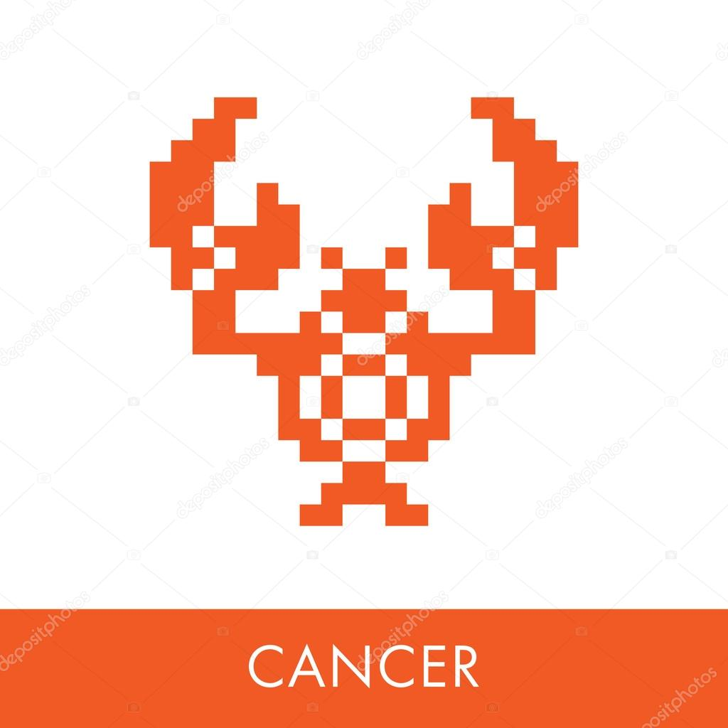 Cancer zodiac sign symbol icons flat illustration pixel graphics cancer zodiac sign symbol icons flat illustration pixel graphics vector by sergenikolaev biocorpaavc Gallery