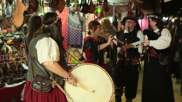 Murcia, Španělsko-březen 5,2016: Hudebníků hrát v středověký trh března 5,2016 Murcia, Španělsko
