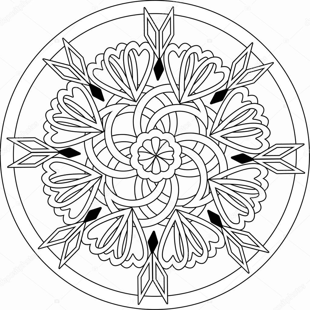 Dekoratif çiçek Süs Ile Seamless Modeli Sayfa Kitap Boyama Stok