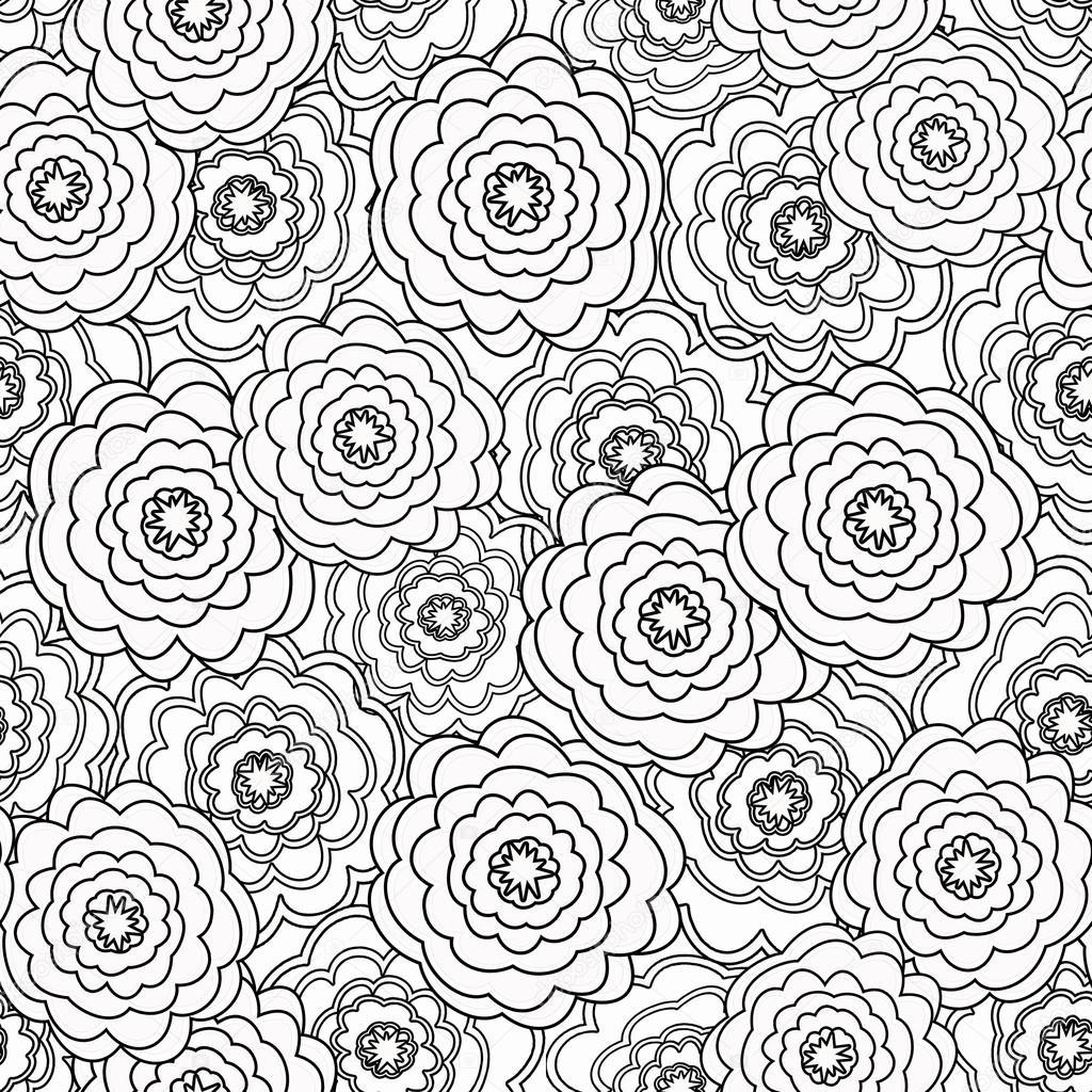 Libro de páginas para colorear de patrones sin fisuras con ...