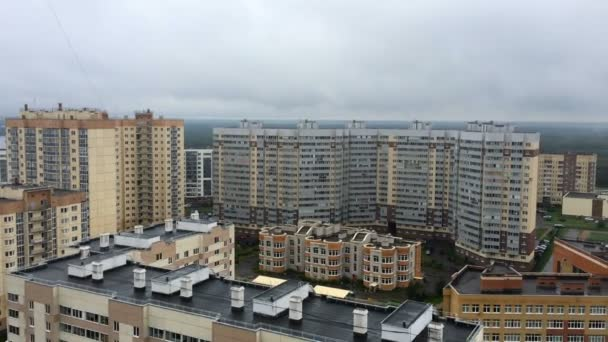 panorama of high-rise residential buildings in Saint-Petersburg