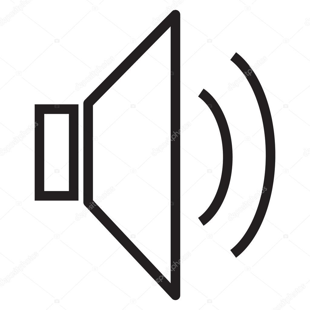 speaker icon volume icon speaker icon on white