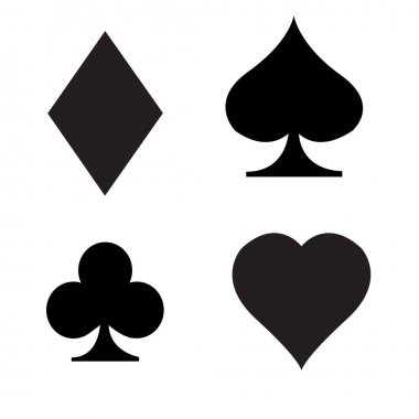 Card suits icon on white background. playing cards sign. gaming card symbol. flat style. icon