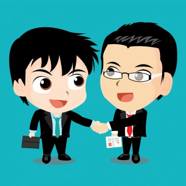 Vector illustration - Business people shaking hands