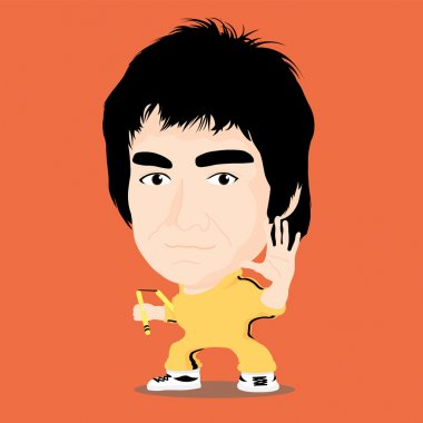 Vector illustration - Bruce Lee