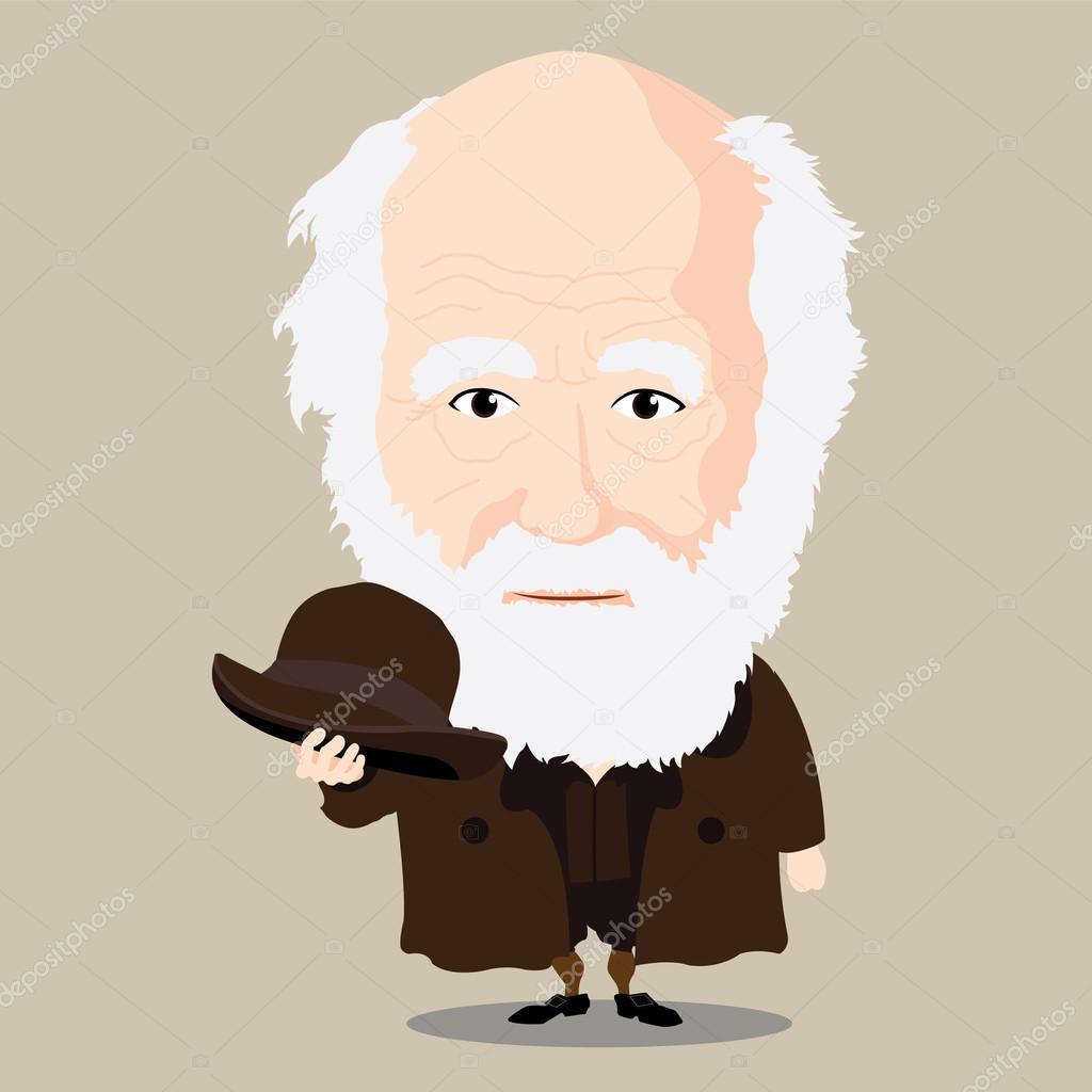 vector illustration charles darwin stock vector devisstudio