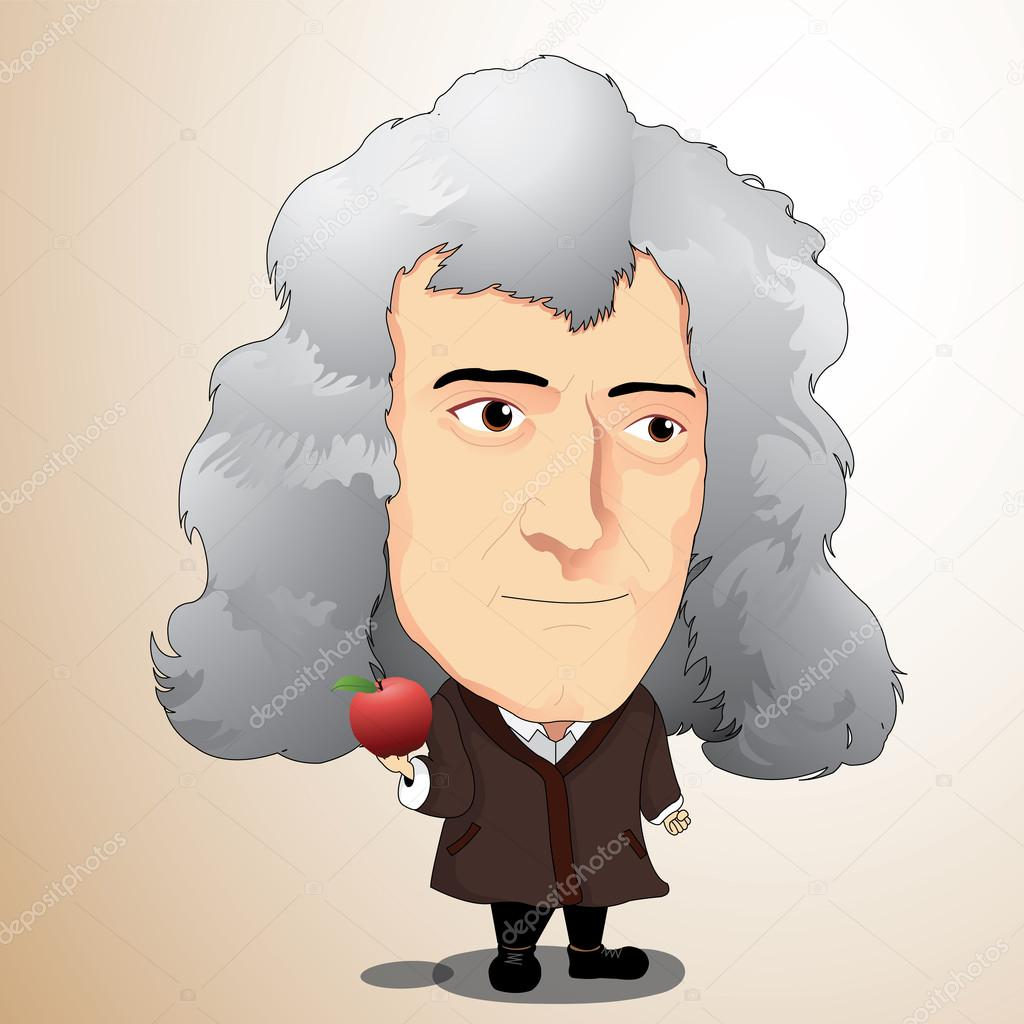 Vector illustration - Sir Isaac Newton