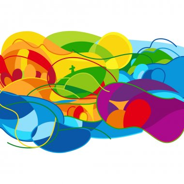 Rio. Summer Games 2016 abstract colorful background. Vector Illustration.
