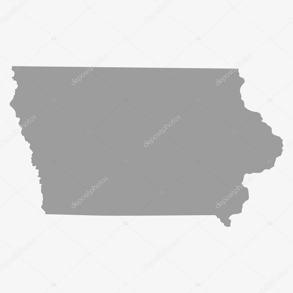 Map at Iowa State in gray on a white background — Stock Vector ...