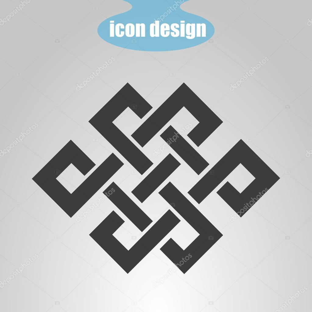 Icon endless knot buddhist symbol stock vector stas11 104227142 buddhist symbol stock vector biocorpaavc Gallery
