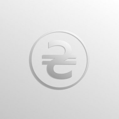 Hryvnia icon with gradients and shadows
