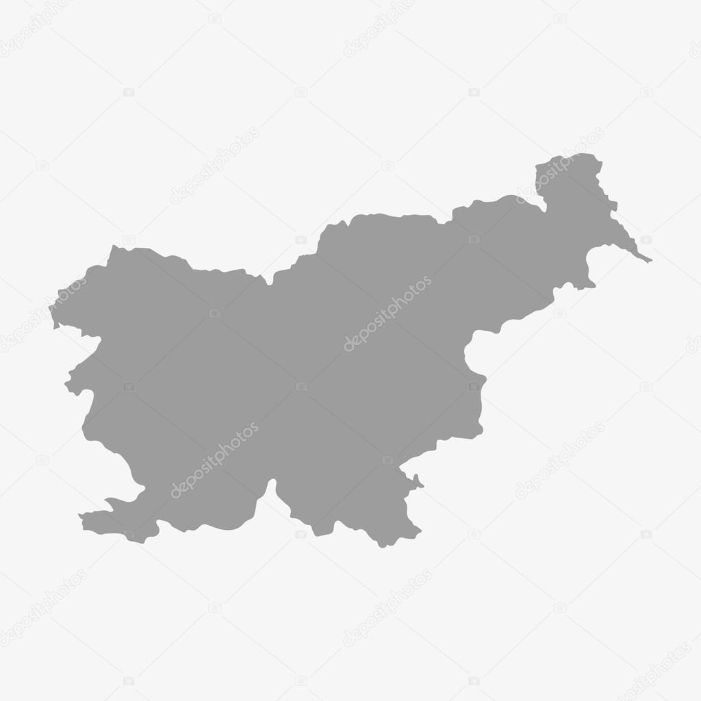 Slovenia Map In Gray On A White Background Stock Vector Stas - Slovenia map download