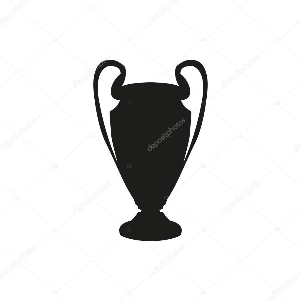 Champions League Vector: Silhouette Of The Champions Cup. Icon Vector Illustration
