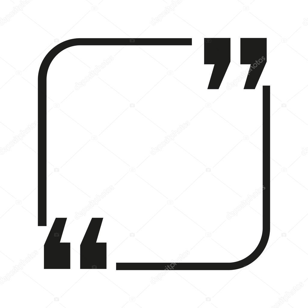 Marco cuadrado para una cita. Burbuja de texto — Vector de stock ...