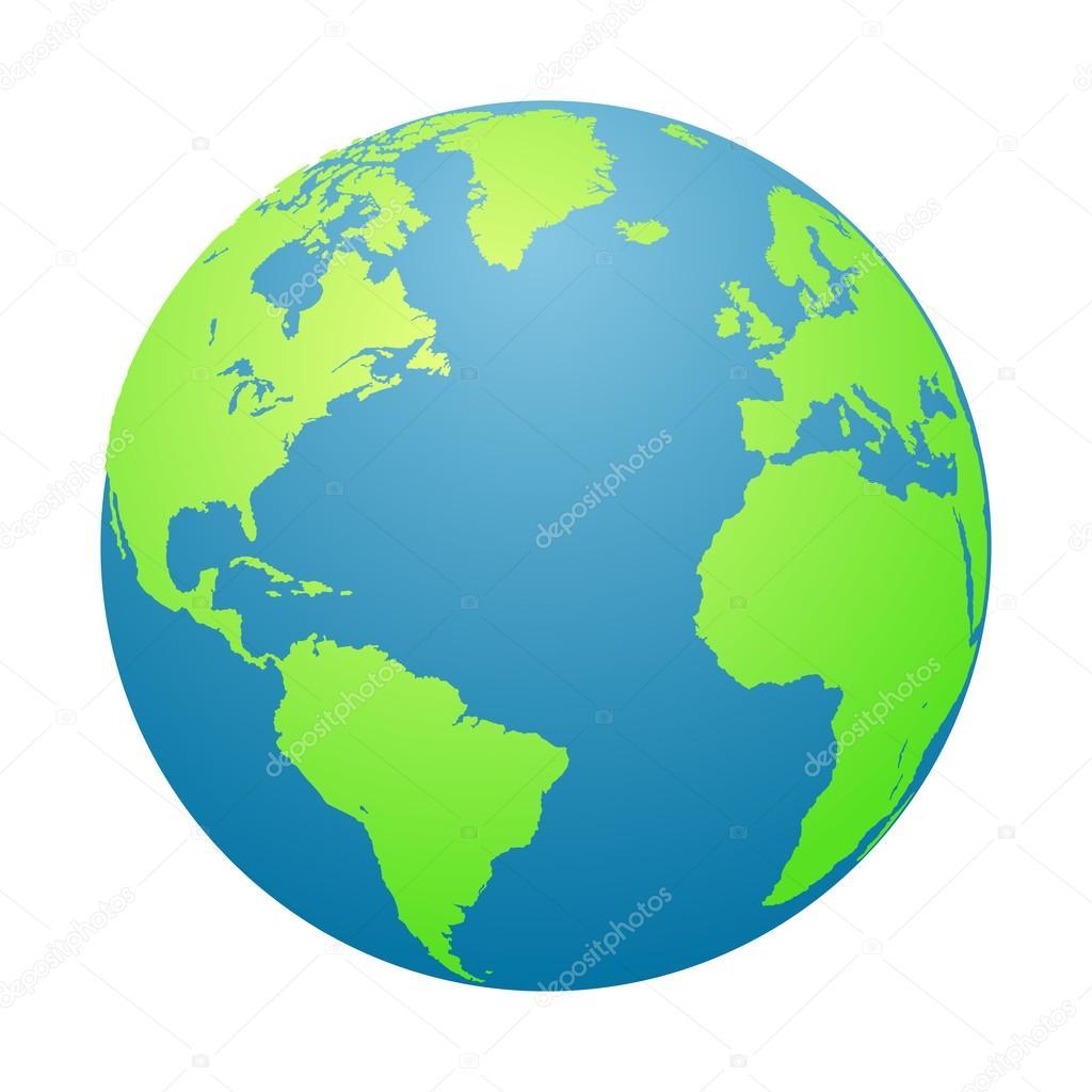 world globe planet earth in a white background vector illustration rh depositphotos com clipart gratuit planete terre clipart gratuit planete terre