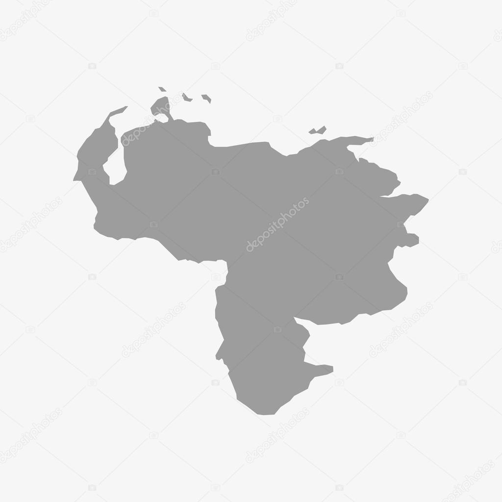 Map of venezuela in gray on a white background archivo imgenes map of venezuela in gray on a white background archivo imgenes vectoriales gumiabroncs Image collections
