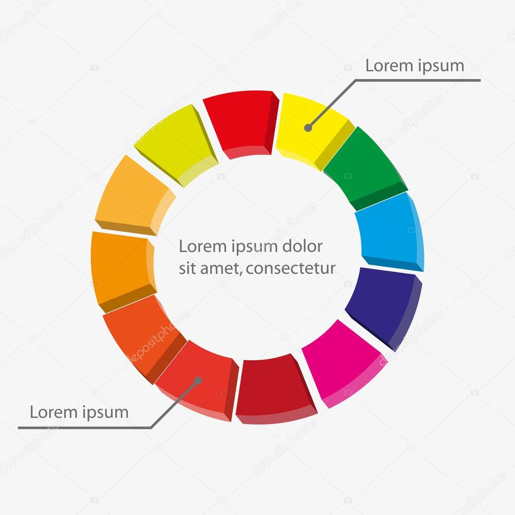 pie chart graphic template for business design infographics