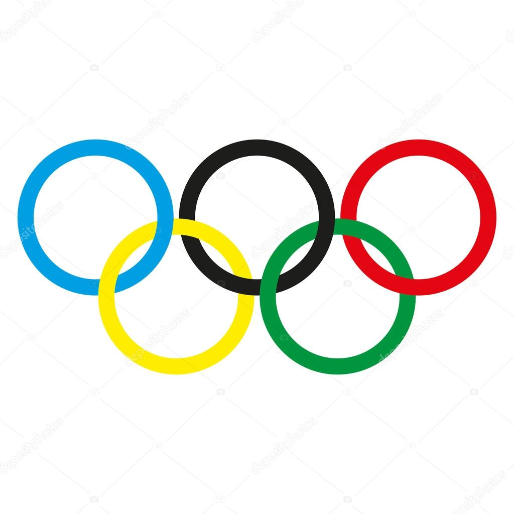 olympic rings on a white background vector illustration stock rh depositphotos com olympic rings border clip art olympic ring clipart png