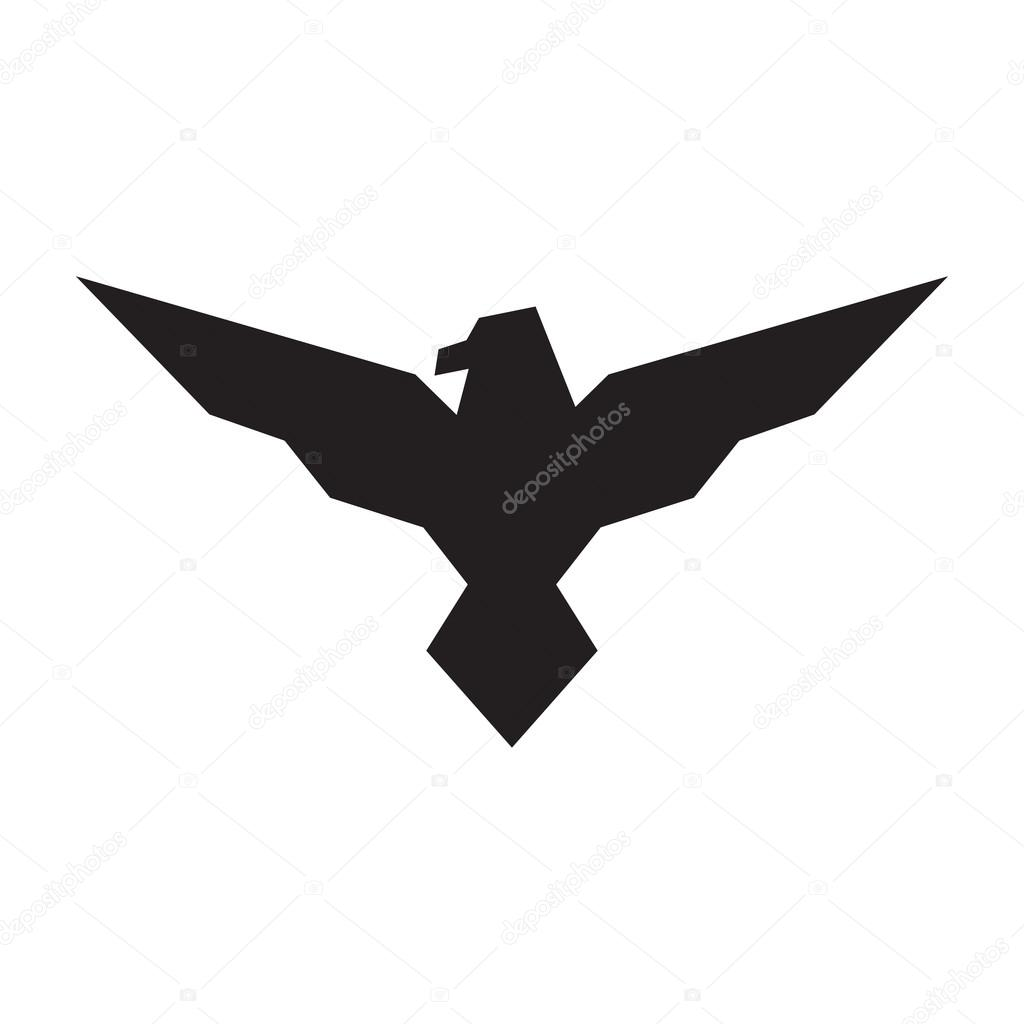 Souvent de l'aigle noir sur fond blanc. Illustration vectorielle — Image  GN84