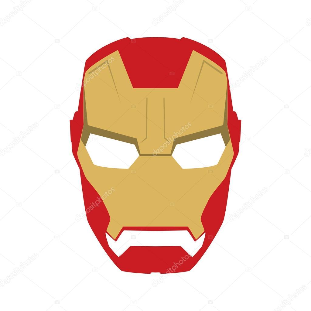 Maske des Superhelden Gesicht Charakter im flachen Design-Vorlage ...