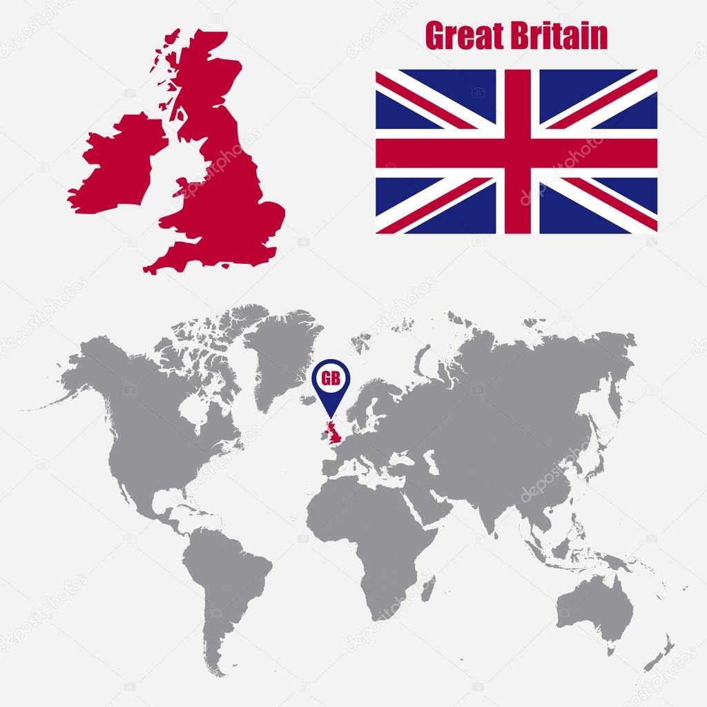 Uk map on a world map with flag and map pointer vector illustration uk map on a world map with flag and map pointer vector illustration archivo gumiabroncs Gallery
