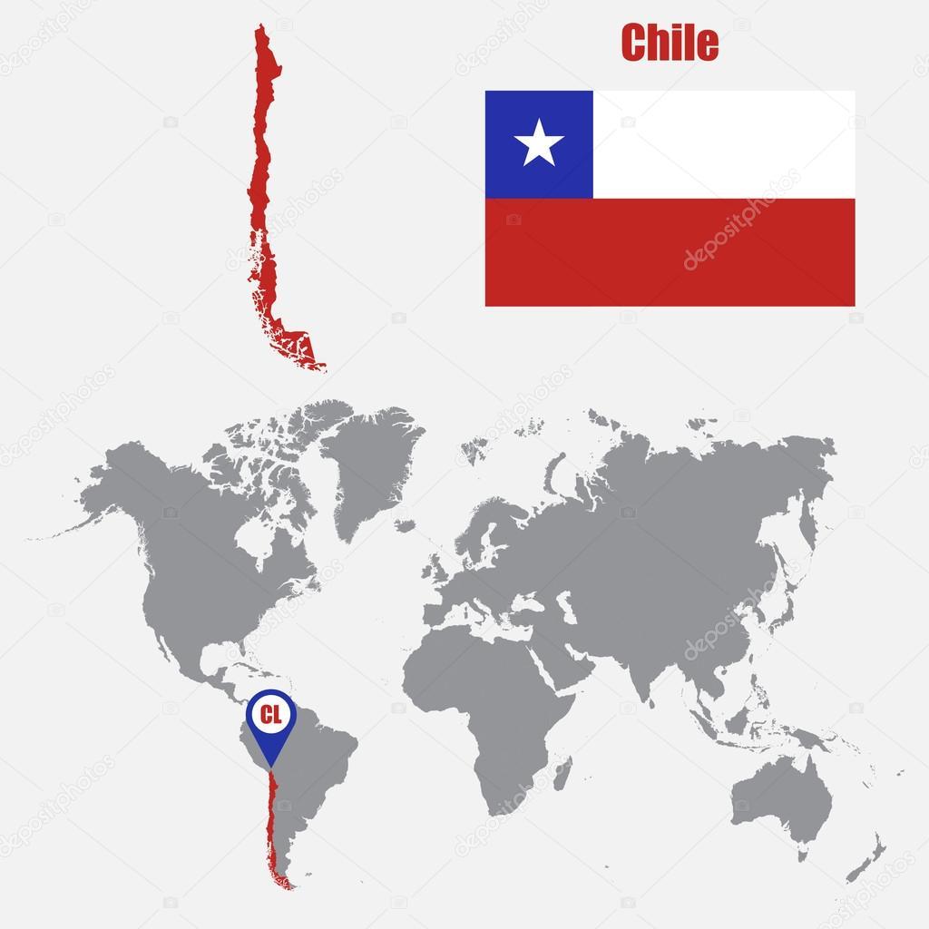 chile mapa mundo Chile en mapa mundial | Chile mapa en un mapa del mundo con la  chile mapa mundo