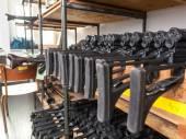 german assault weapons lies in a gun room