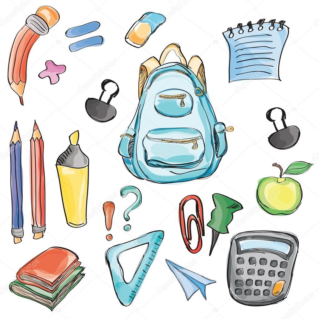 Welkom Terug Op School Klas Levert Notebook Doodles