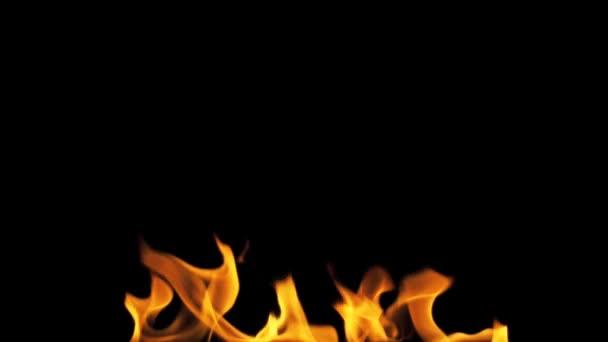 zapálení ohně izolovaných na černém pozadí.