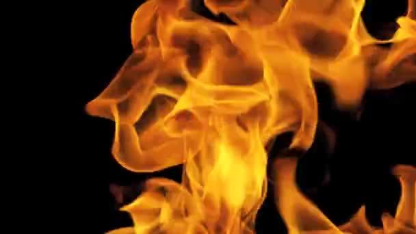 Feuerflammen auf Vollbildschirm
