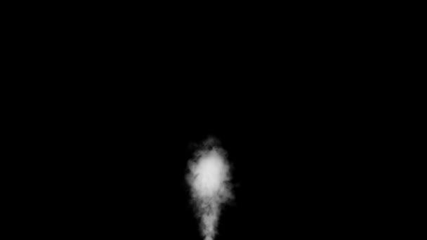 Bílý kouř dal od Buttom na černém pozadí