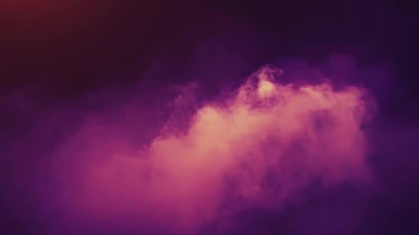 színes füst görbék elszigetelt fekete háttér