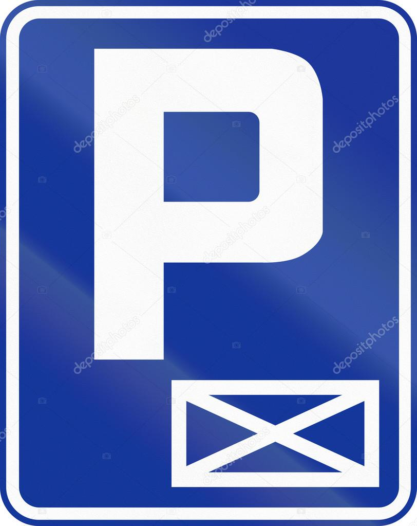 Reserved Parking in Poland — Foto de stock © jojoo64 #108921304