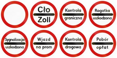 Toll Signs in Poland