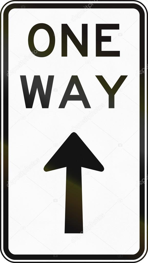 One Way Traffic In Australia Stock Photo Jojoo64 110195166