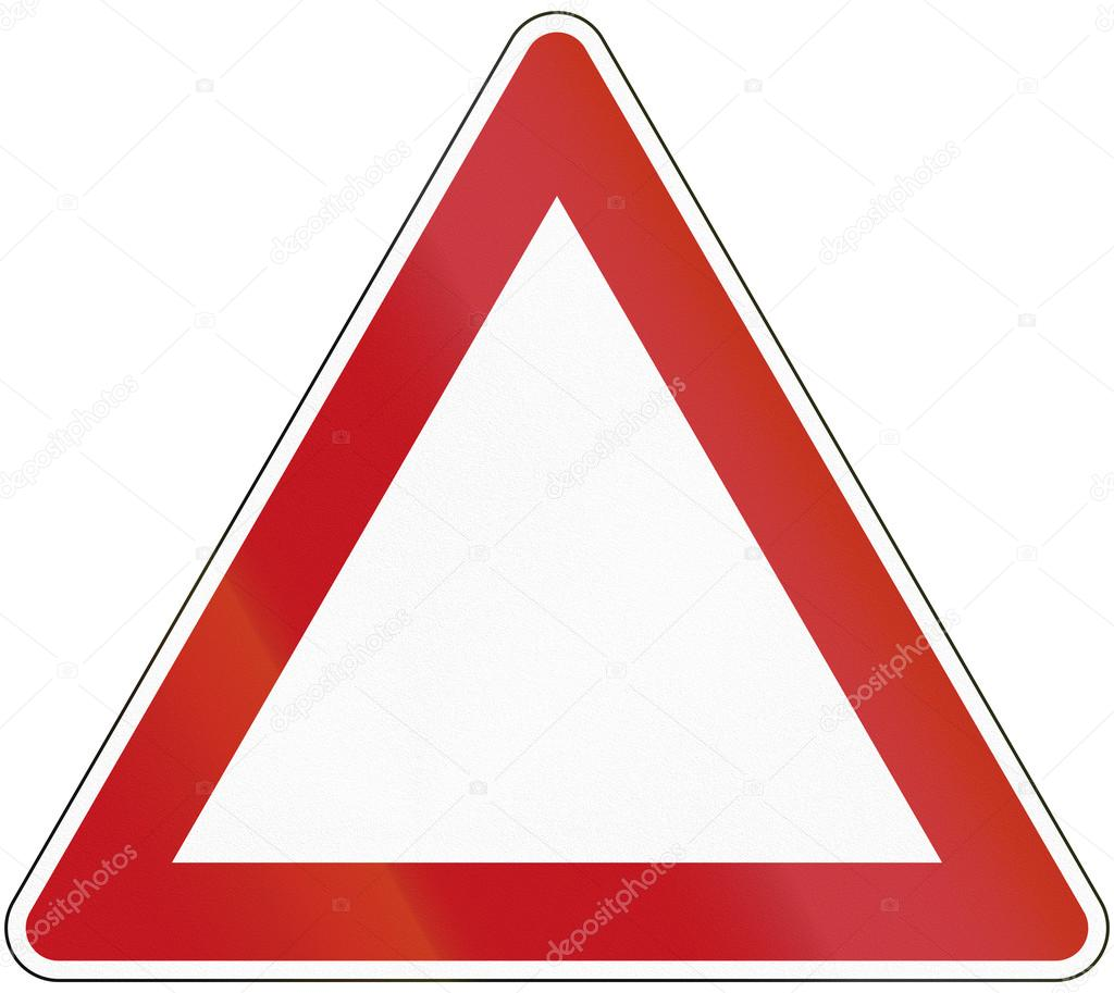 Triangle template as a base for various traffic and warning sign ...