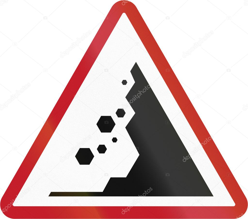Road sign in the philippines falling rocks stock photo road sign in the philippines falling rocks stock photo buycottarizona Image collections