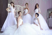 Beautiful brides with hairstyling and makeup
