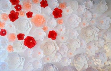Beautiful wedding paper flowers