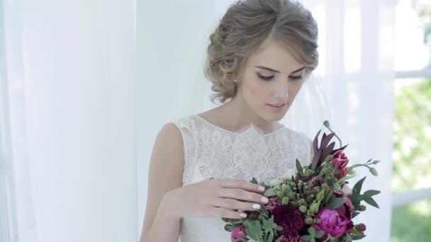 nevěsta s krásnou kytici