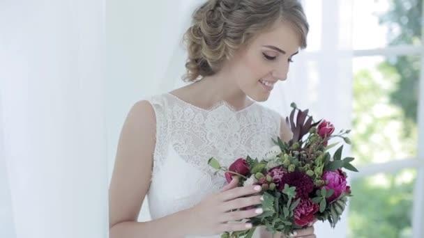 menyasszony a gyönyörű csokor
