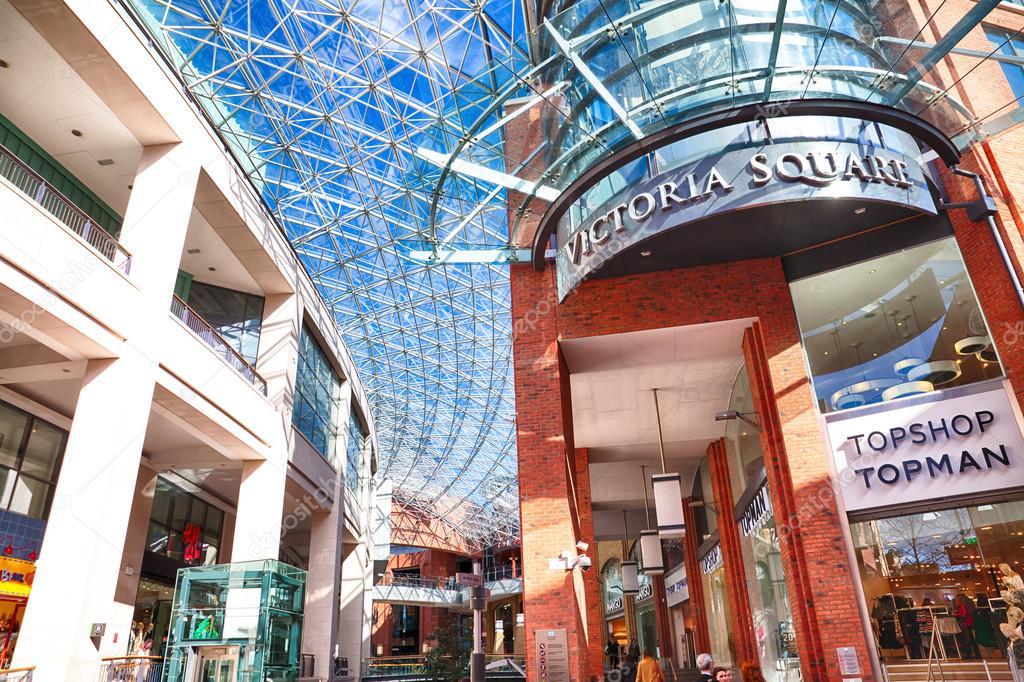 6dd3b4e1a0b71 Belfast, County Antrim, Northern Ireland - Aprl 27, 2016: Victoria Square  Shopping Centre in Belfast City Centre. The Dome has views across the city.