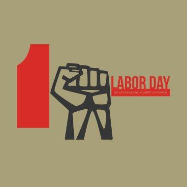 International labour day logo Poster, emblem, banner.
