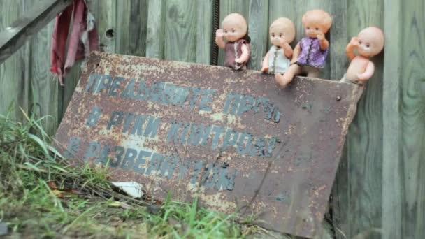 Panenky v zóně Černobylu.
