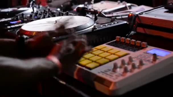 Beatmaker performing in the night club