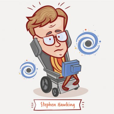 portrait of Stephen Hawking