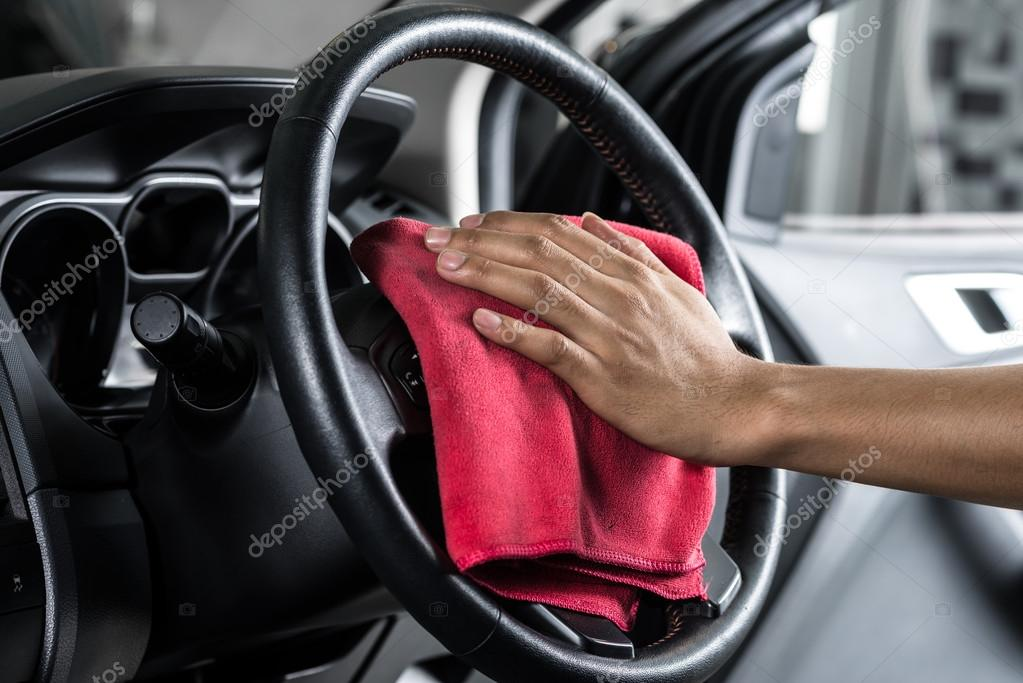 Car Detailing Series : Cleaning Car Interior U2014 Stock Photo