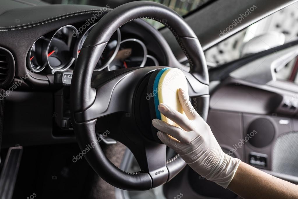 Detalle serie del coche limpieza interior del coche - Vehicle interior cleaning service ...